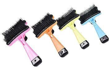 Fully 2 cepillos de masaje para mascotas, gatos, perros, conejos, pelo, removedor de pelo (color al azar): Amazon.es: Productos para mascotas