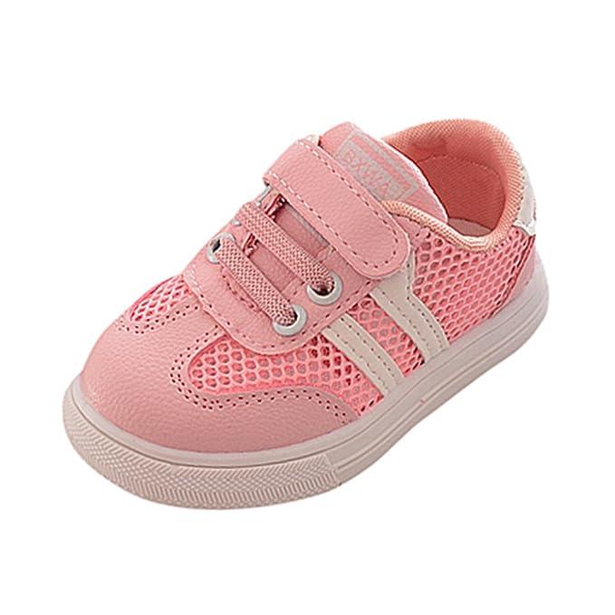 YanHoo Zapatos para niños Zapatillas de Deporte de bebé Huecos para niños pequeños para niños Zapatillas