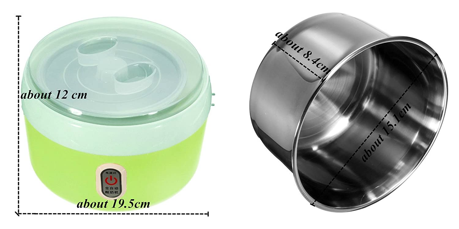 New Arrival 1.2 L Automatic Yogurt Maker Electric Buttermilk Sour Cream Making Machine Rice Wine + Natto Maker (Green) china B01H8RKZ2A