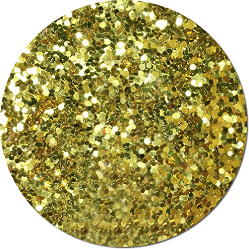 Glitter My World! Jumbo Flake Craft Glitter: 1 lb Jar Gold Bullion