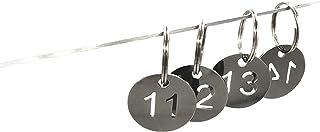 304etichette in acciaio INOX chiave con anello, fondo a numero ID tag Key Chain, numerato portachiavi 25mm (11 to 20) PlayCool