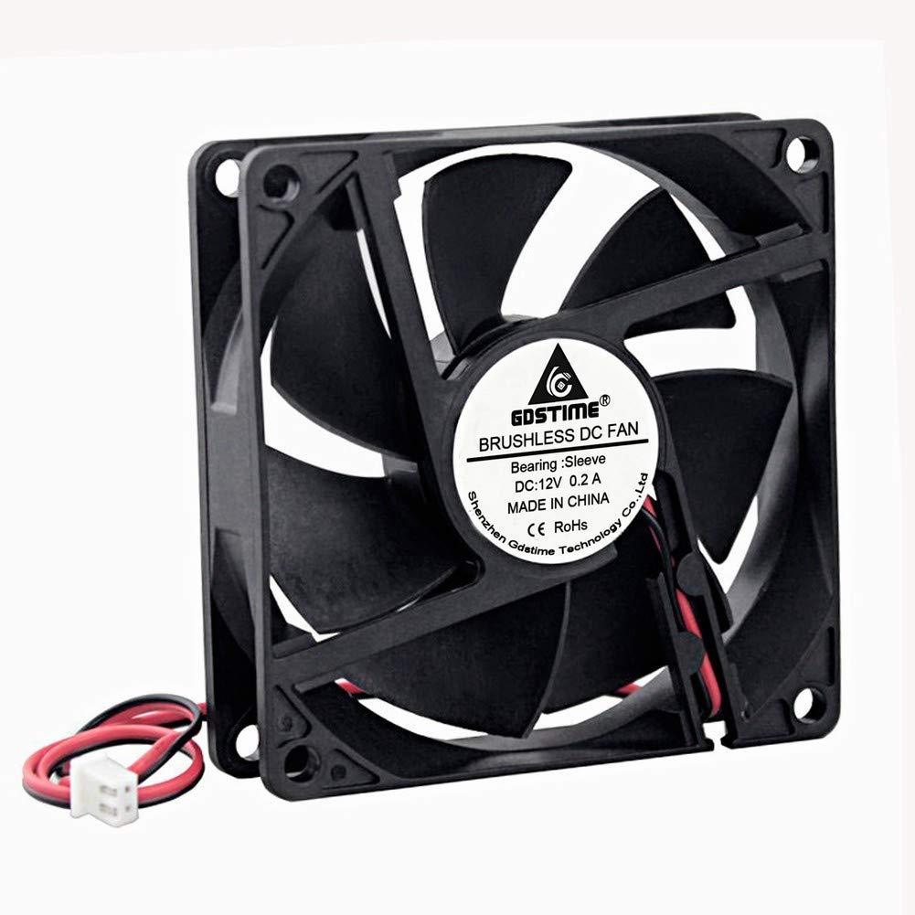 GDSTIME 80mm x 20mm 8020 12V Dc Brushless Cooling Fan Sleeve Bearing
