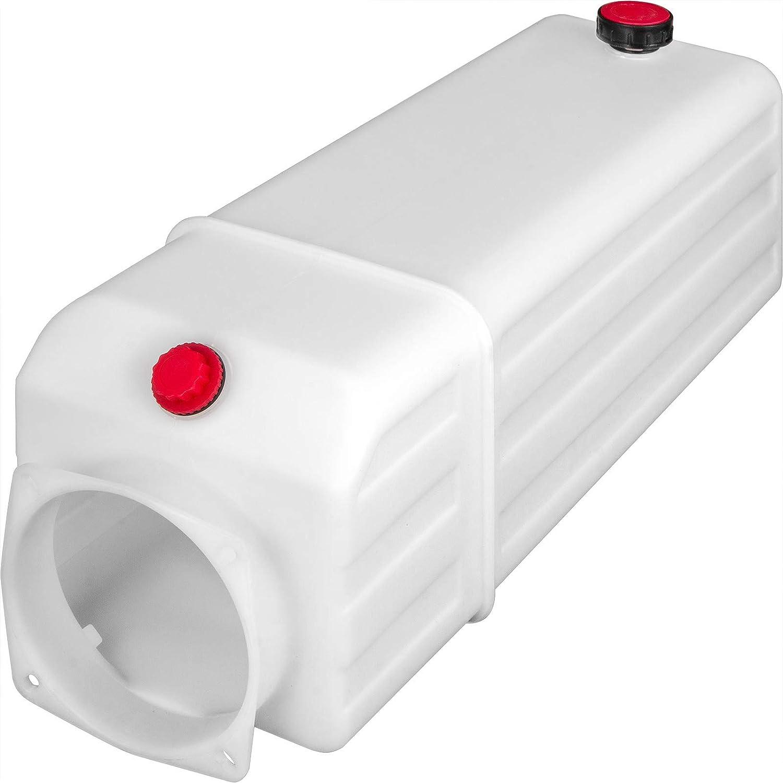 Mophorn R/éservoir hydraulique en plastique 11L R/éservoir d/'huile hydraulique Remorque R/éservoir /à huile R/éservoir de rechange plastique pour pompe hydraulique Contenants Indicateur de niveau Remorque