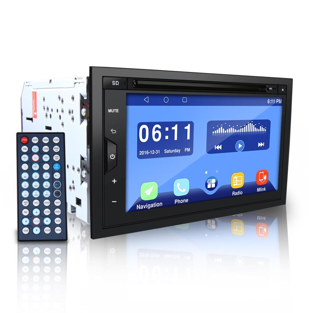 Pyle PLDAND697 Double Din Android Stereo Receiver System, 6.8 inches by Pyle (Image #1)