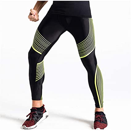 9fd104b9f8 Men's Compression Base Layer Leggings Fitness Sports Tights Men's Summer High  Elastic Basketball Leggings Breathable And