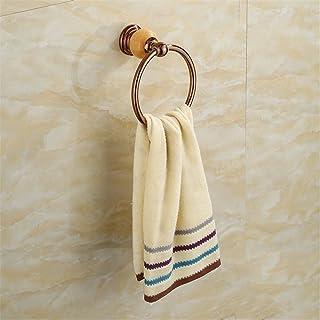 negozio di decorazione Asciugamano Anello in Acciaio Inox Giada placcatura Retro Lusso Creativo Bagno Camera da Letto Soggiorno Cucina, A