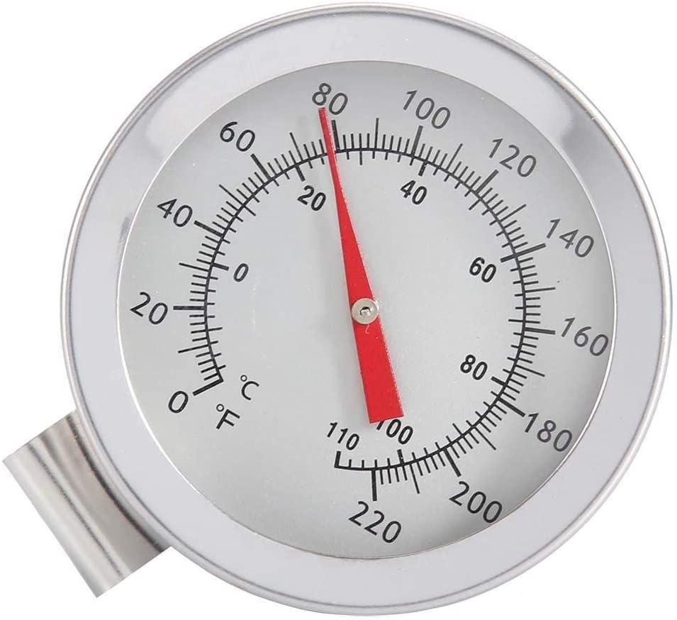 Thermometer 1Pc Kettle Clip on Dial Thermometer Home Brew Wine Beer Thermometers for Cooking Boiling or Any Other Application.
