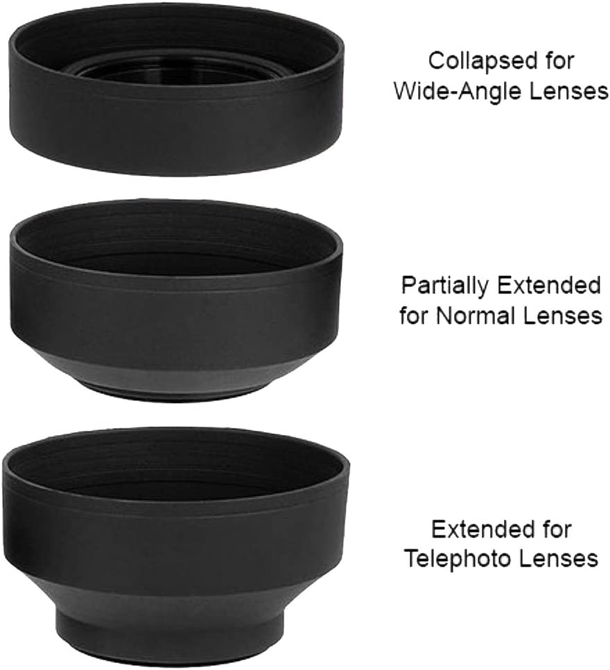 49mm Soft Lens Hood for Canon EOS M6 EOS M50 EOS M100 Mirrorless Digital Camera with EF 15-45mm Lens