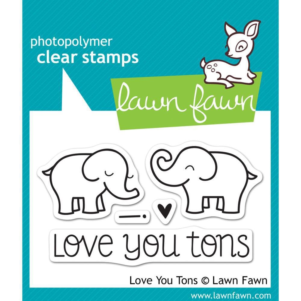 a2594d0c70 Amazon.com: Lawn Fawn Clear Stamps - Love You Tons #LF598: Home & Kitchen