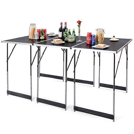 Amazon.com: Giantex Juego de mesa de picnic plegable, de ...