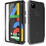 EGV Case for Google Pixel 4A 4G with [2 Pack] Tempered Glass Screen Protector, [Shock-Absorption] [Full Protection] Coverage