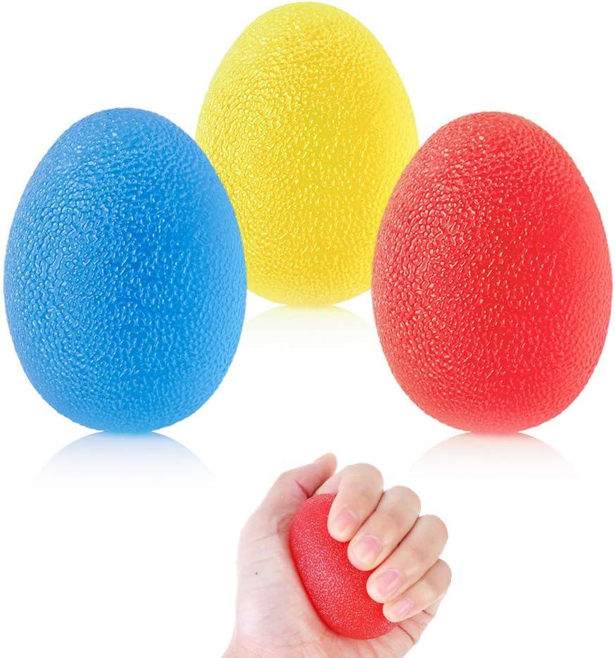 f/ür Arthritis Griffst/ärkung und Stressabbau 3 St/ück Handtherapie-B/älle Hand Therapie /Übung Ball Therapie Handb/älle Finger Exerciser Griffb/älle mit 3 Verschiedenen Widerstandsstufen
