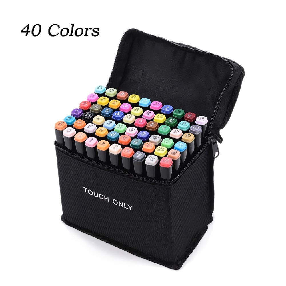 [CITIZUS] 40 Colors Marking Pen for Cartoon Landscape Interior Costume Design, Double-Ended Maker