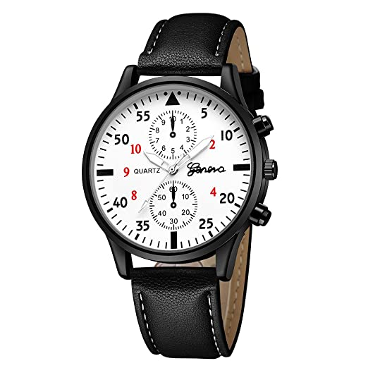 BBestseller Reloj de Deportivo para Hombres de Negocios, Ginebra Reloj de Cuarzo Relojes de Pulsera