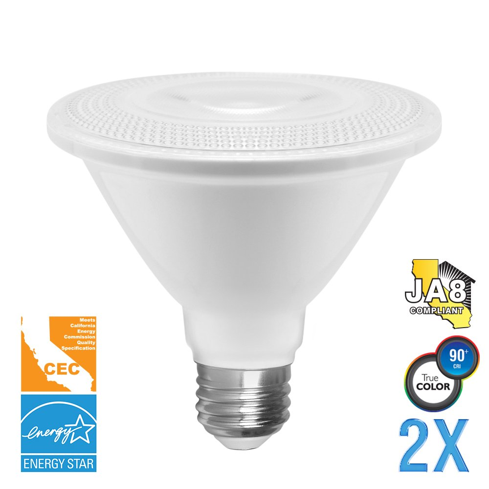 Euri Lighting EP30-4020cecws-2 SN PAR30 Light Bulb, E26 Base, 900 lm, CRI 90+, 2700K (Pack of 2)