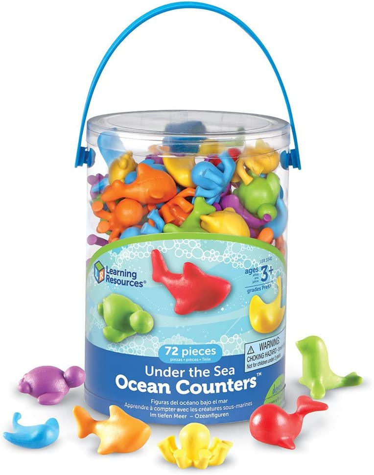 Learning Resources LER3341 Under the Sea Ocean Counters