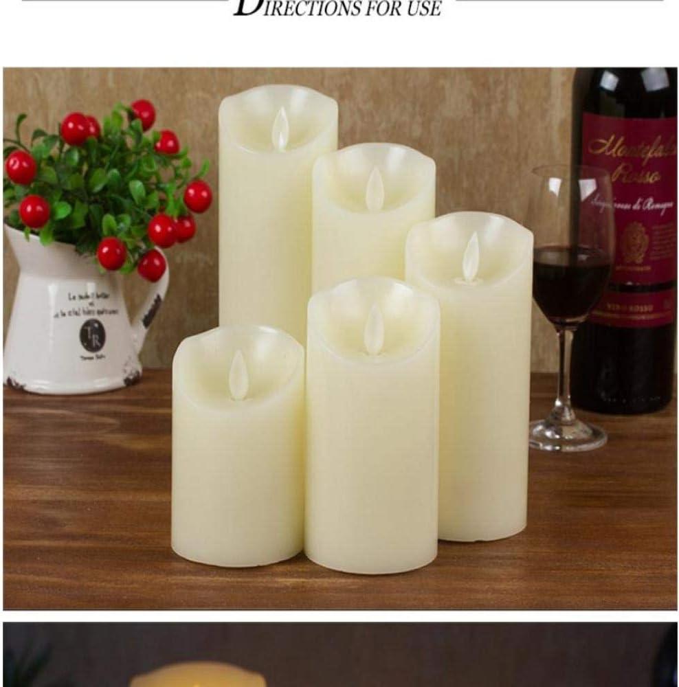 wangZJ Led swing luz de vela electrónica/llama oscilación parafina/decoración de la boda en casa / 3 piezas/brillante 7.5cm * 12.5cm: Amazon.es: Bricolaje y herramientas