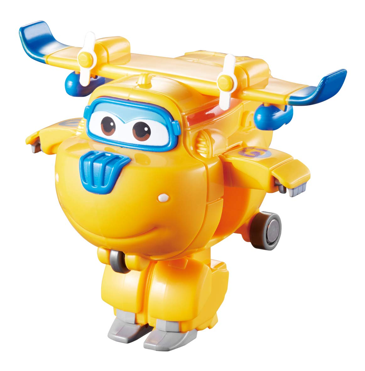 Super Wings US720040D Transforming Toy Figures, Poppa Wheel, Dizzy, Jett, & Donnie, 2'' Scale by Super Wings
