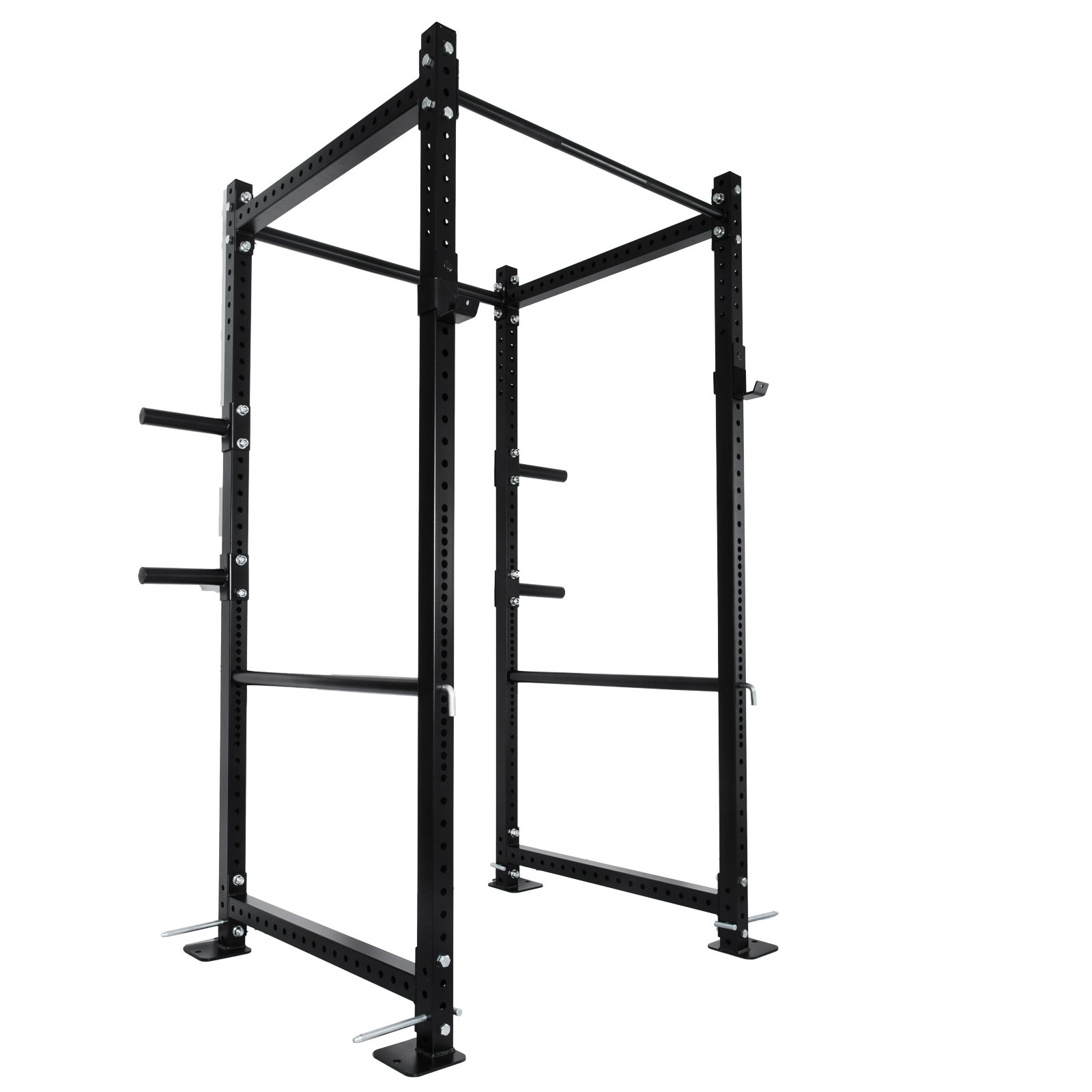 Popsport Deep Squat Rack Series Power Rack Squat Barbell Cage Bench Stand Heavy Duty Multi-Grip Chin-Up Fitness Power Rock for Home Gym (T-3 Series 82'') by Popsport