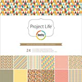 Project Life by Becky Higgins 380097 12x12 Designer Paper Collection Pack - Kraft Edition - 24 sheets