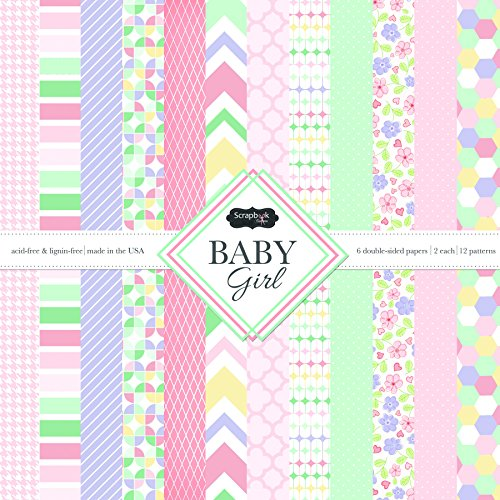 Scrapbook Customs Themed Paper Scrapbook Kit, Baby Girl (Baby Girl Scrapbook)