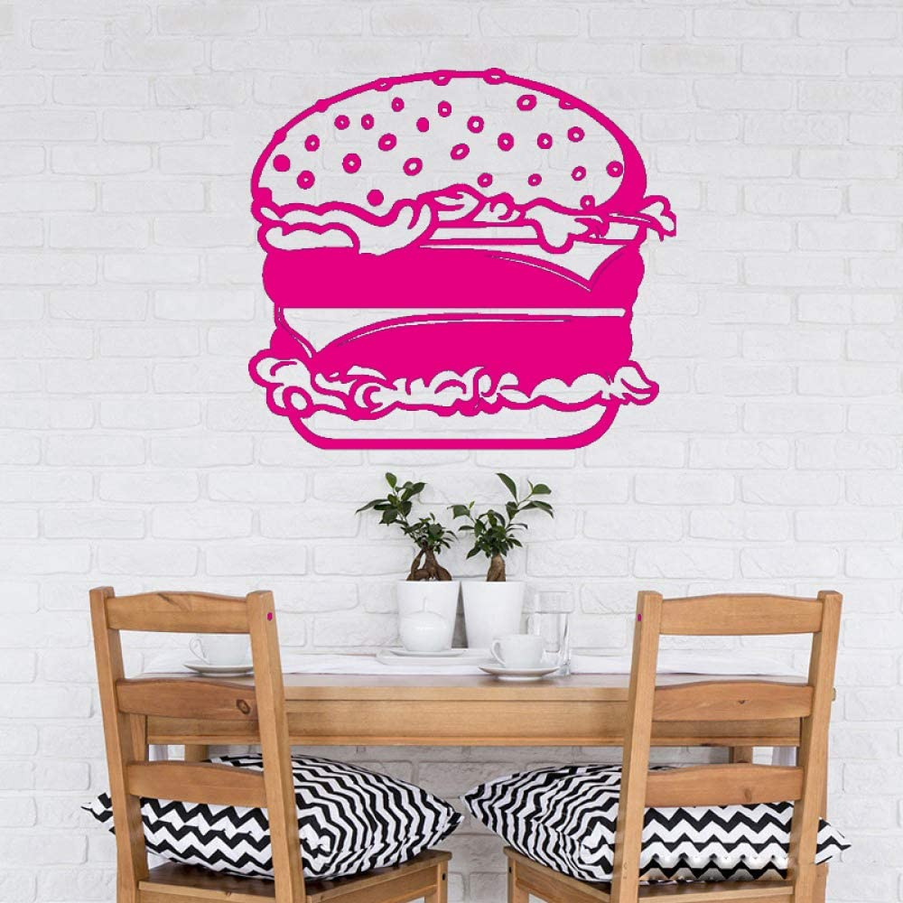 Cocina interior Decoración del hogar Comida rápida Hamburguesa Pegatinas de pared Ventana Cocina Patrón creativo Cartel Mural ~ 1 80 * 90 cm