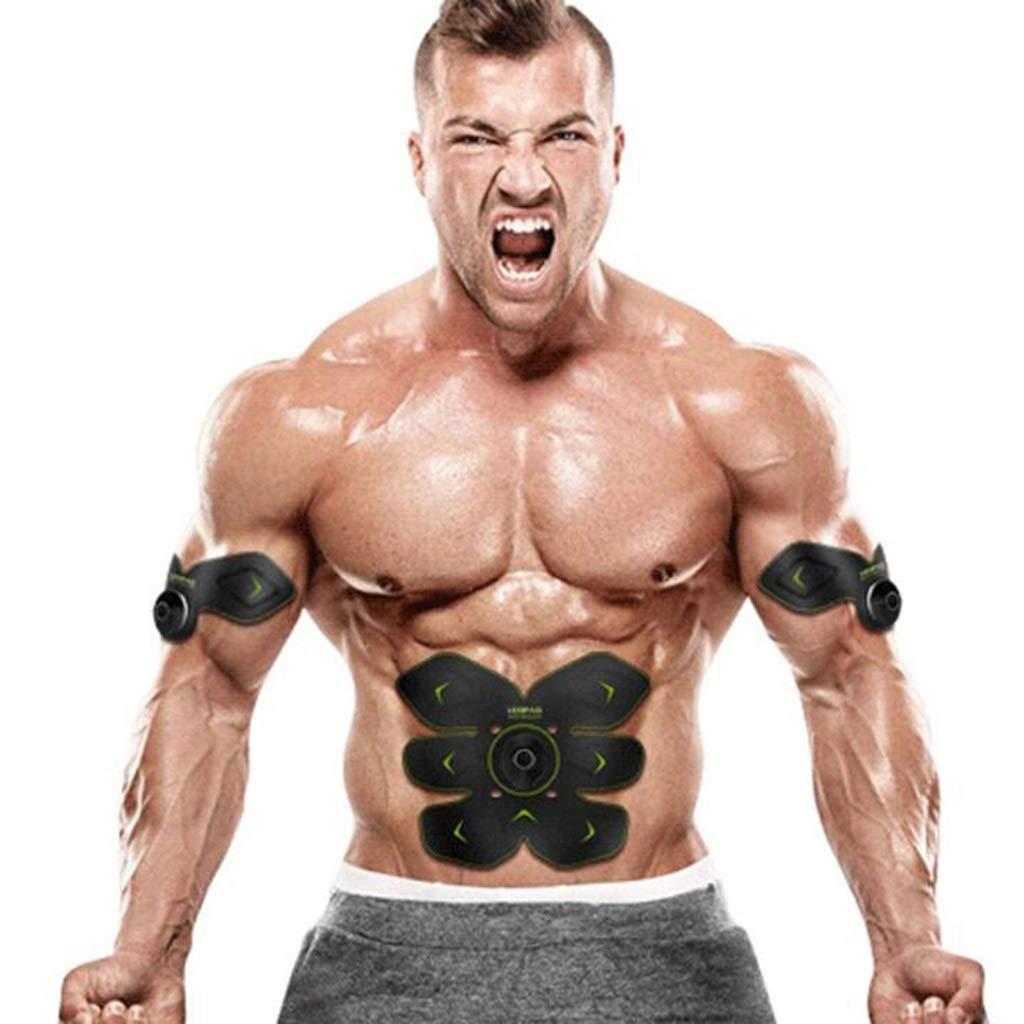 Ems筋肉刺激装置、フィットネス電気刺激装置、腹部トレーナーフィットネストレーニング   B07QJXRG4H