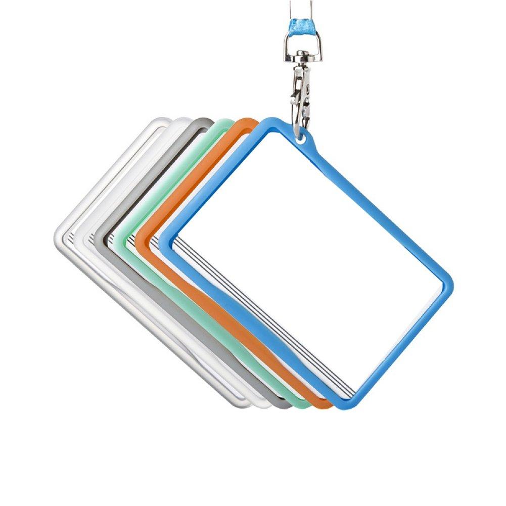 3pcs impermeabile plastica orizzontale stile ID card manicotto protettivo con bianco da appendere corda per tutti di colore da casuale Elandy