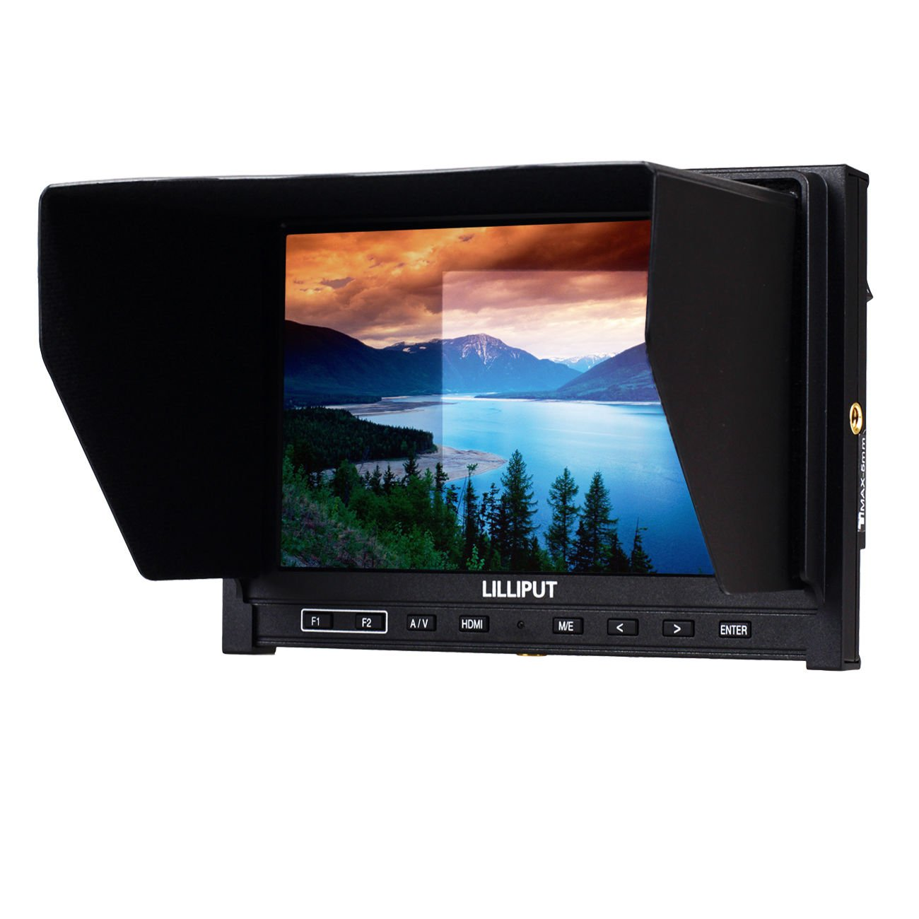 Zhigao High Resolution Lilliput 339 7 IPS Camera Top Monitor HDMI Input AV in Out Put