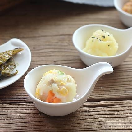 XDOBO hecho a mano Mini Salsa de Mantequilla Plato de cerámica Salsa barco condimento platos para