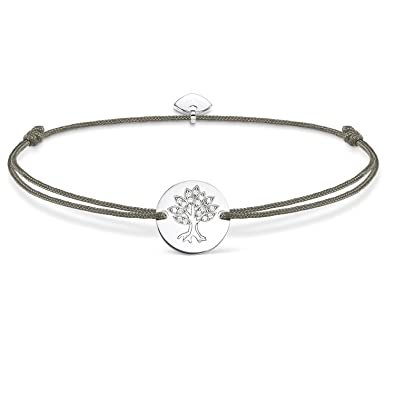 cd0fb9525c3 Thomas Sabo Women-Bracelet Little Secrets 925 Sterling silver grey  LS008-401-5-L20v: Amazon.co.uk: Jewellery
