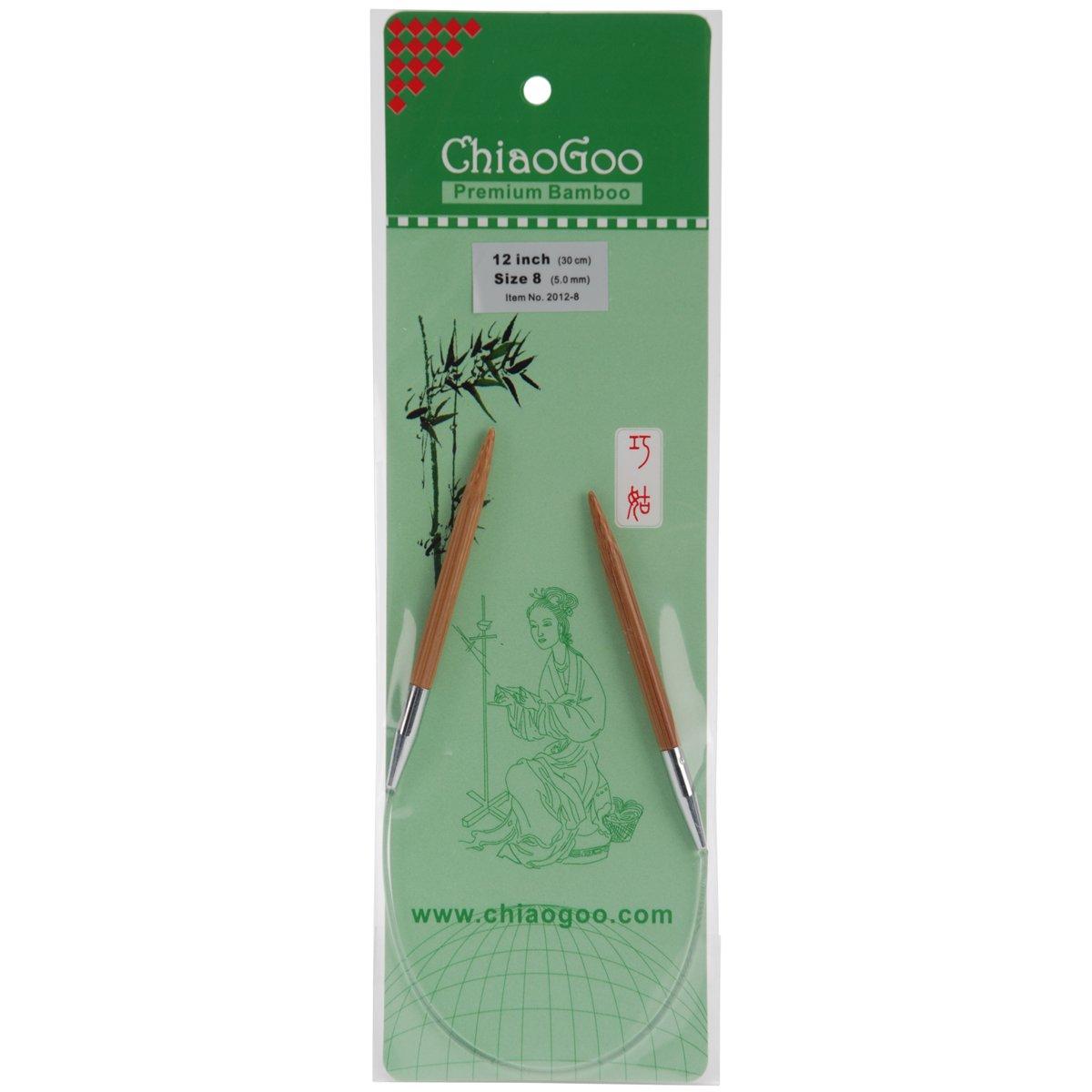 5mm ChiaoGoo 2012-8 Circular 12-Inch Bamboo Dark Patina Knitting Needle