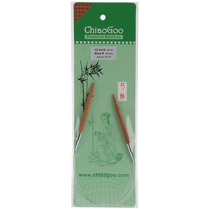 ":BAMBOO Patina Double Point Needle Sock Set: ChiaoGoo 5 Sizes 1-3 US 6/"""