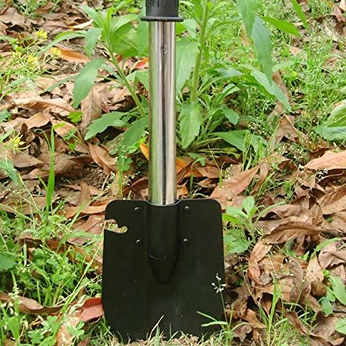 Vrcoco 4 in 1 Folding Shovel Utility Emergency Survival Camping Tools Shovel Axe Saw the Sappers Shovel Folding Shovel for Camping Hiking Backpacking Fishing(1pc,Steel) by Vrcoco (Image #2)