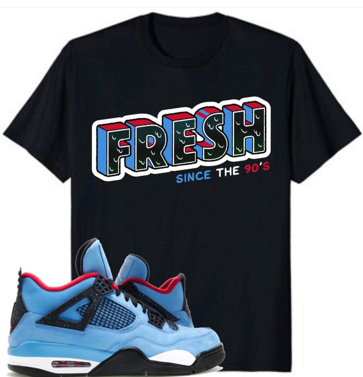 purchase cheap 4bcf8 8853f Amazon.com: Jordan 4 Retro Travis Scott Cactus Jack Shirt ...
