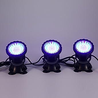 Glighone Luces de Acuario y Estanque LED Luces para Peceras Submersible Luz de Rocalla RGB Impermeable