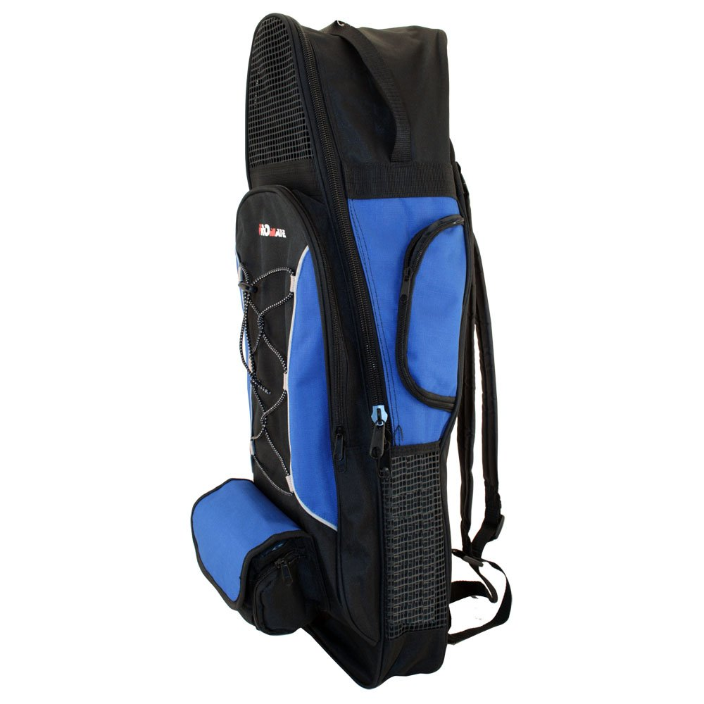 PROMATE Backpack Style Bag For Mask, Snorkel, & Fins Scuba Diving Gear Snorkeling Surfing Travel Overnight Back Pack Bag by Promate