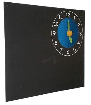 Pizarra Infantil, Reloj, Colgar, 60x50 cm: Amazon.es ...