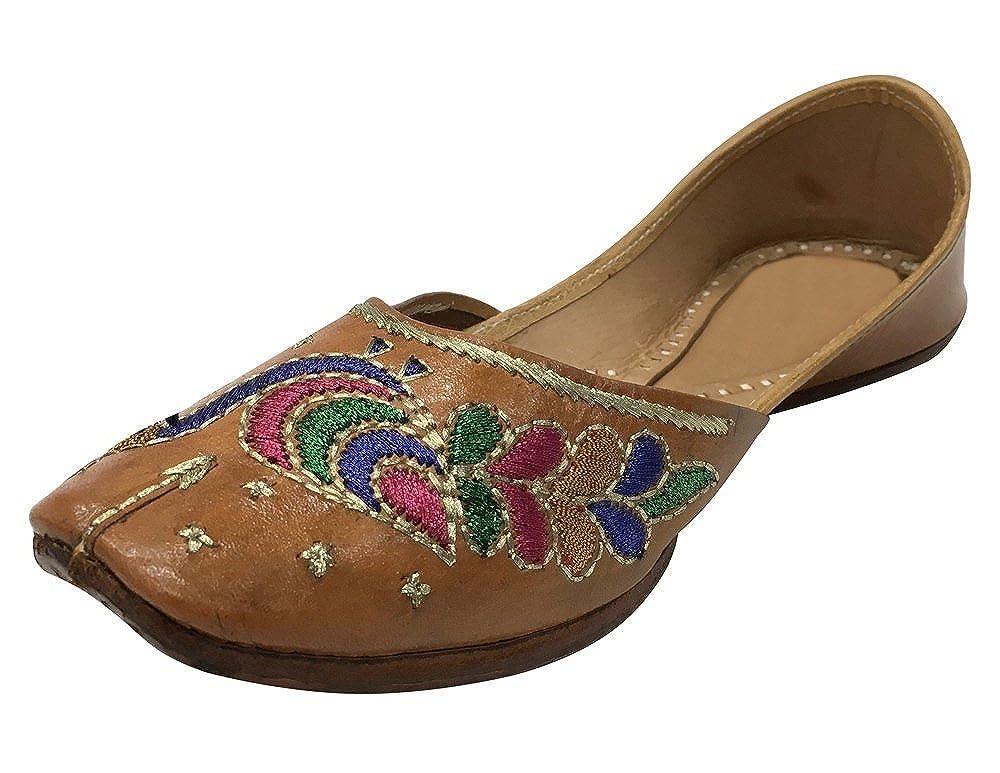 Step n Style Ladies Pure Leather Mojari Punjabi Jutti Ballet Flats Khussa Shoes SS63