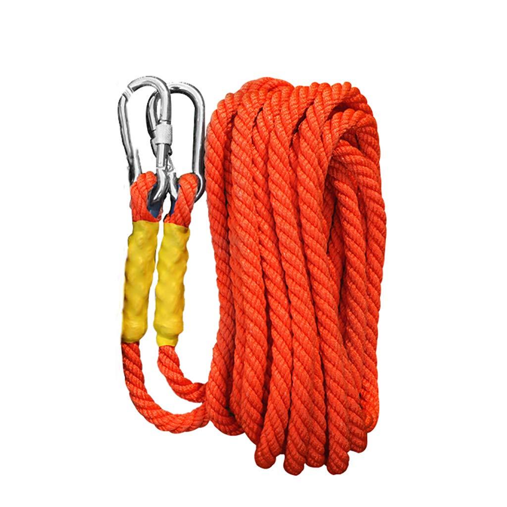 LIZIPYS Einfachseile Kletterseil Nylonseil Outdoor-Kletterseil Fluchtseil Arbeitsschutzseil mit mit mit 16 mm Durchmesser Länge 5 10 15 20 30 40 50 60 70 80 90   100m Orange B07M7RY89H Einfachseile Qualität zuerst 69d749