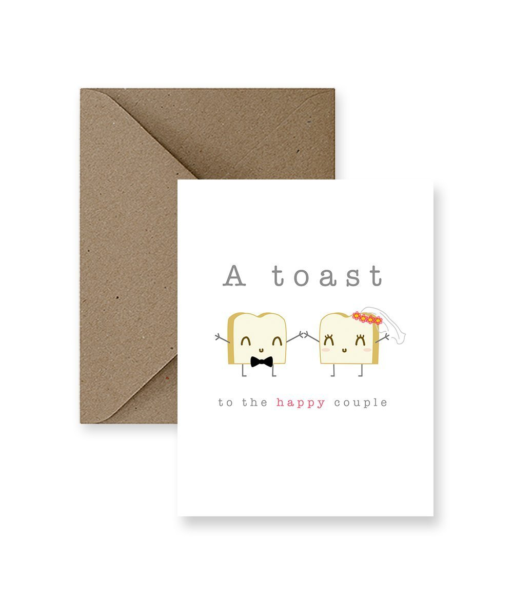 A Toast To The Happy Couple Wedding Card