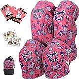 Kids Knee Pads and Elbow Pads with Bike Gloves | Toddler Knee Pads Bike Protective Gear Set Kids Skate Pads | Roller-Skating, Skateboard Knee Pads for Children Boys Girls