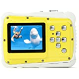 PELLOR Waterproof Sport Action Camera Kids Camera Camcorder 8M Pixels (2 in screen, Yellow)