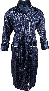 Bown of London Mens Lightweight Satin Look Luxury Designer Dressing Gown