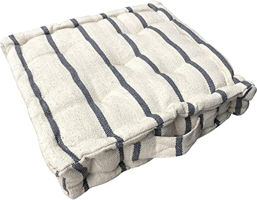 Cojín Austin a rayas gris suelo algodón cojín asiento grande silla jardín: Amazon.es: Hogar