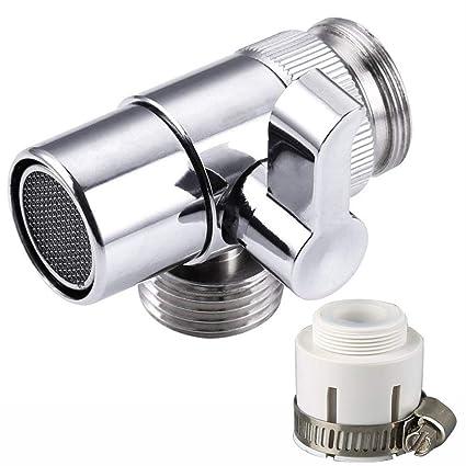 Amazon Com Brass Sink Valve Diverter Faucet Splitter For Kitchen Or