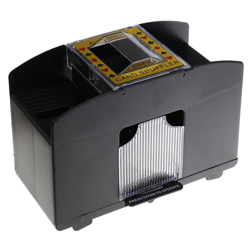 MagiDeal 1-4 Decks Elektrische Kartenmischmaschine, Automatisches Kartenmischgerät für Poker