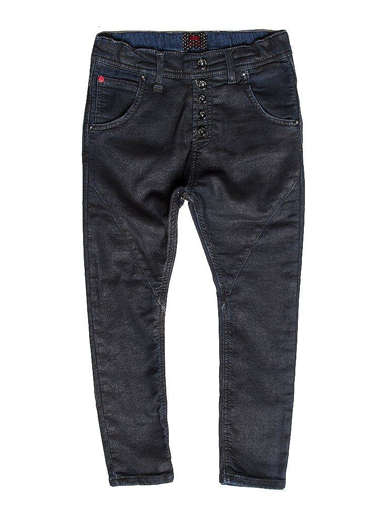 899 - Noir 15-16 ans (hauteur  176 cm) voiturerera Jeans - Jogger Jeans 771 pour Fille, Entrejambe Bas, Couleur Unie, Doubleure Polaire, Taille Loose, Taille Normale