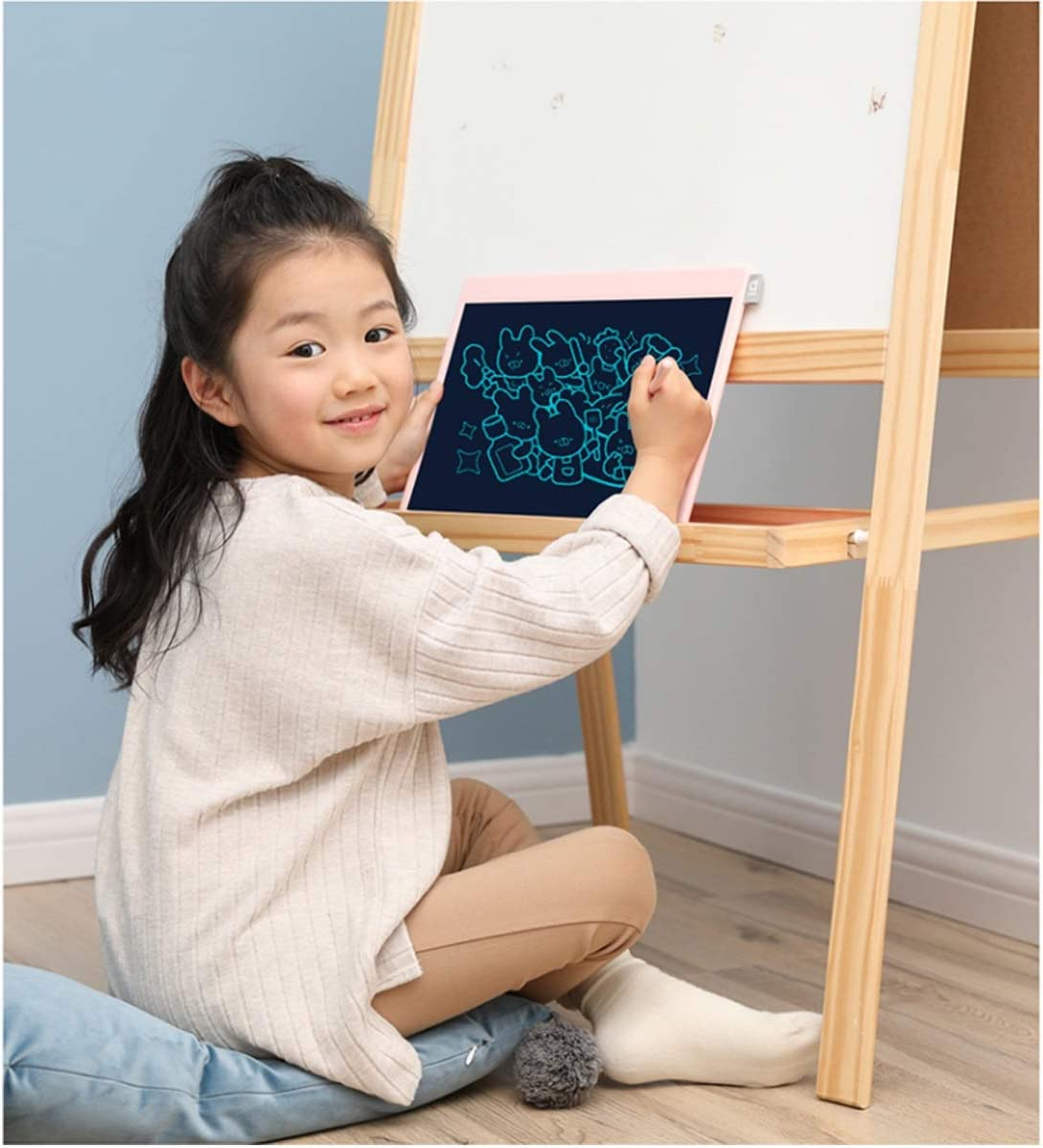 Electronic Blackboard LCD Sketchpad Blue Pink Sketchpad, Crow Painting Board Color : Pink Xionghaizi Machine Island Smart Small Blackboard Tablet