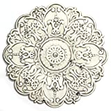 Stratton Home Décor S11563 Small Medallion Wall Décor, White